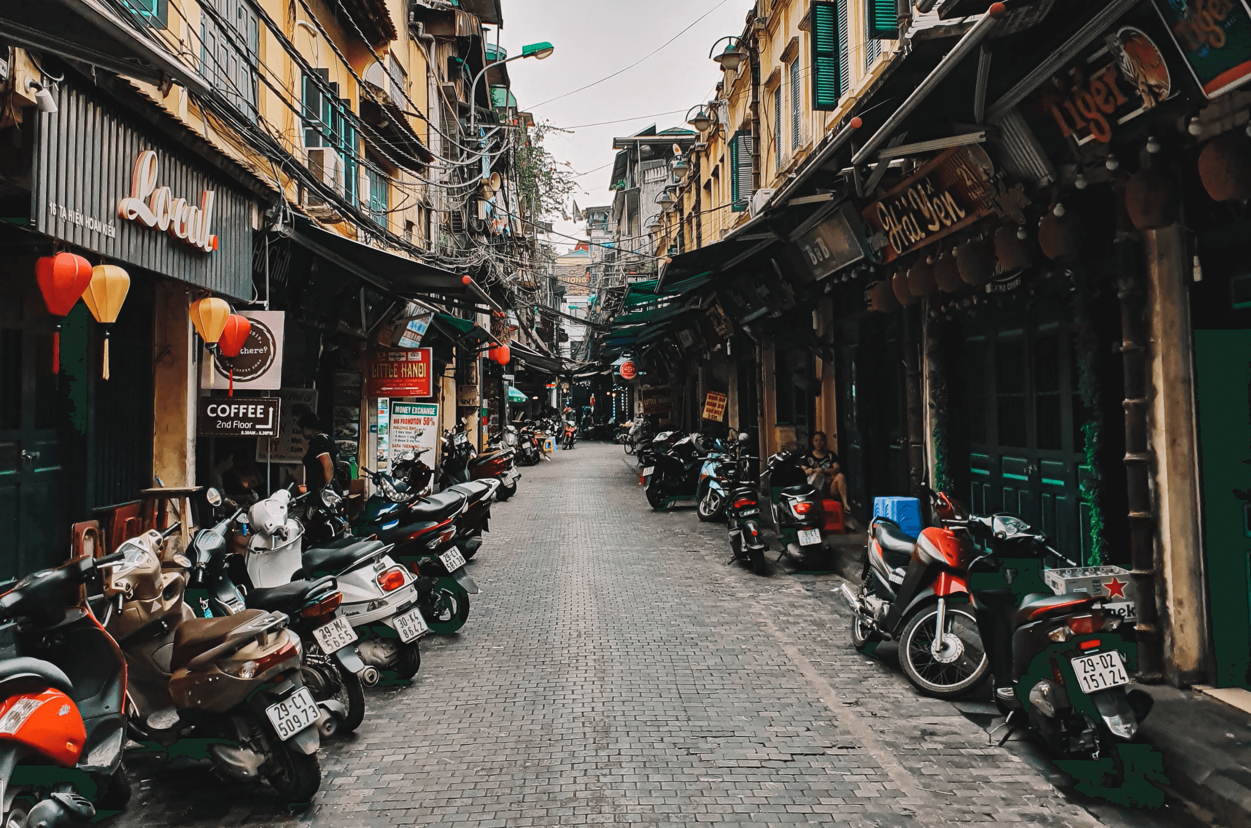 the streets of Hanoi Old Quater